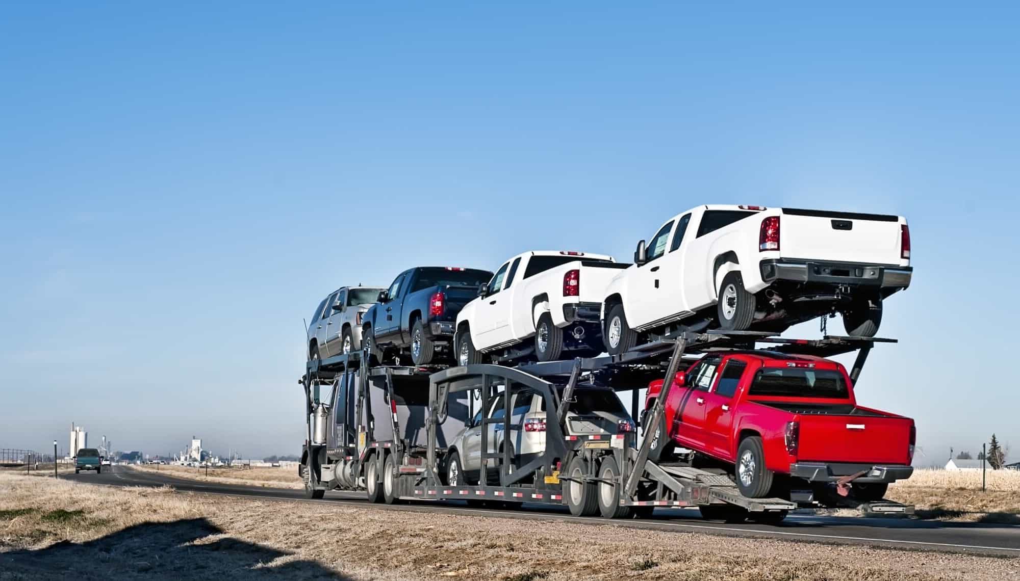 Door-to-door cross country car shipping
